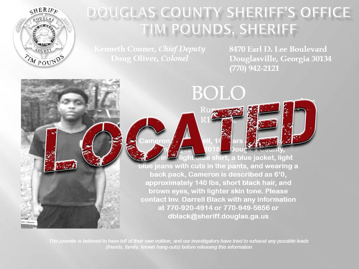 Missing: Juvenile Cameron Bell