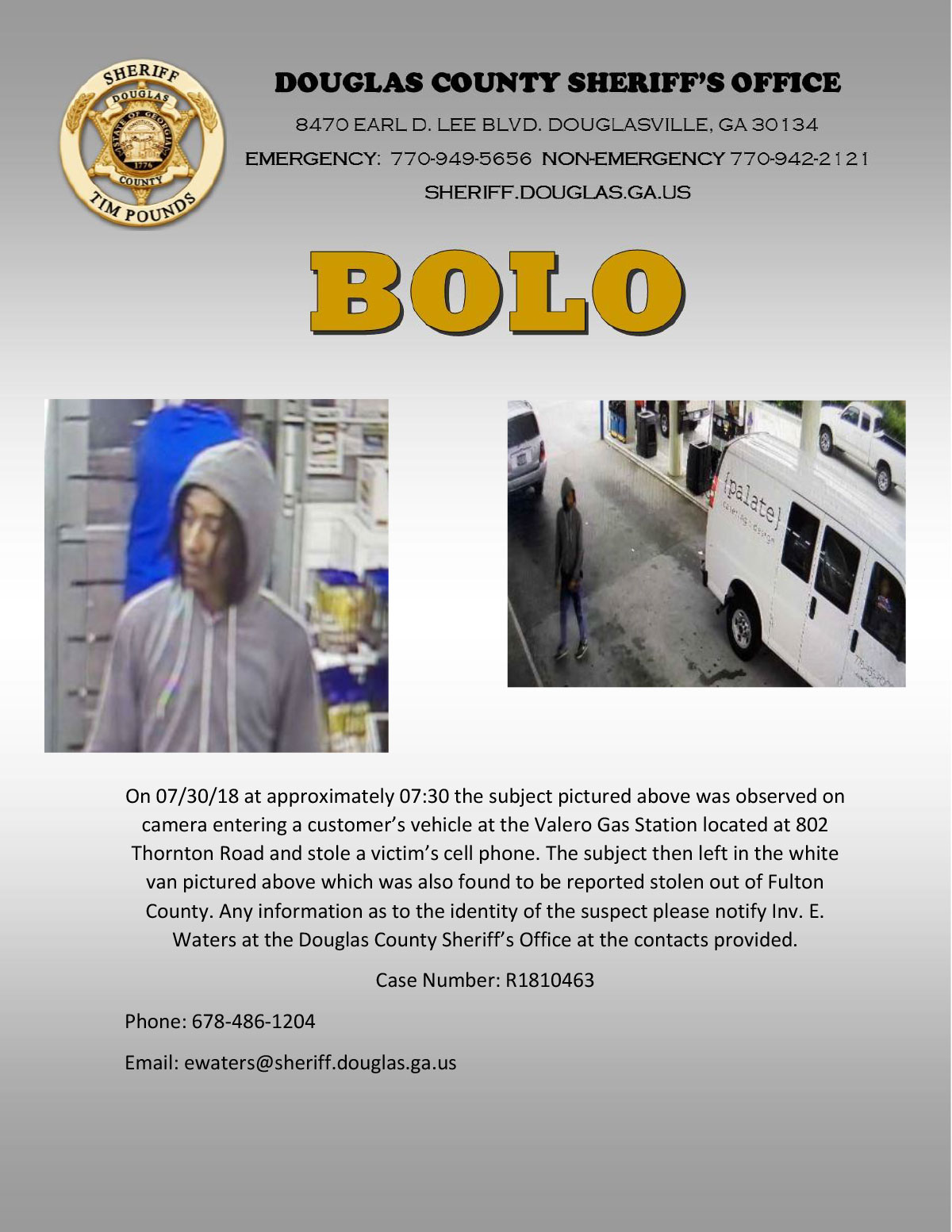 Suspect Wanted for Entering Auto