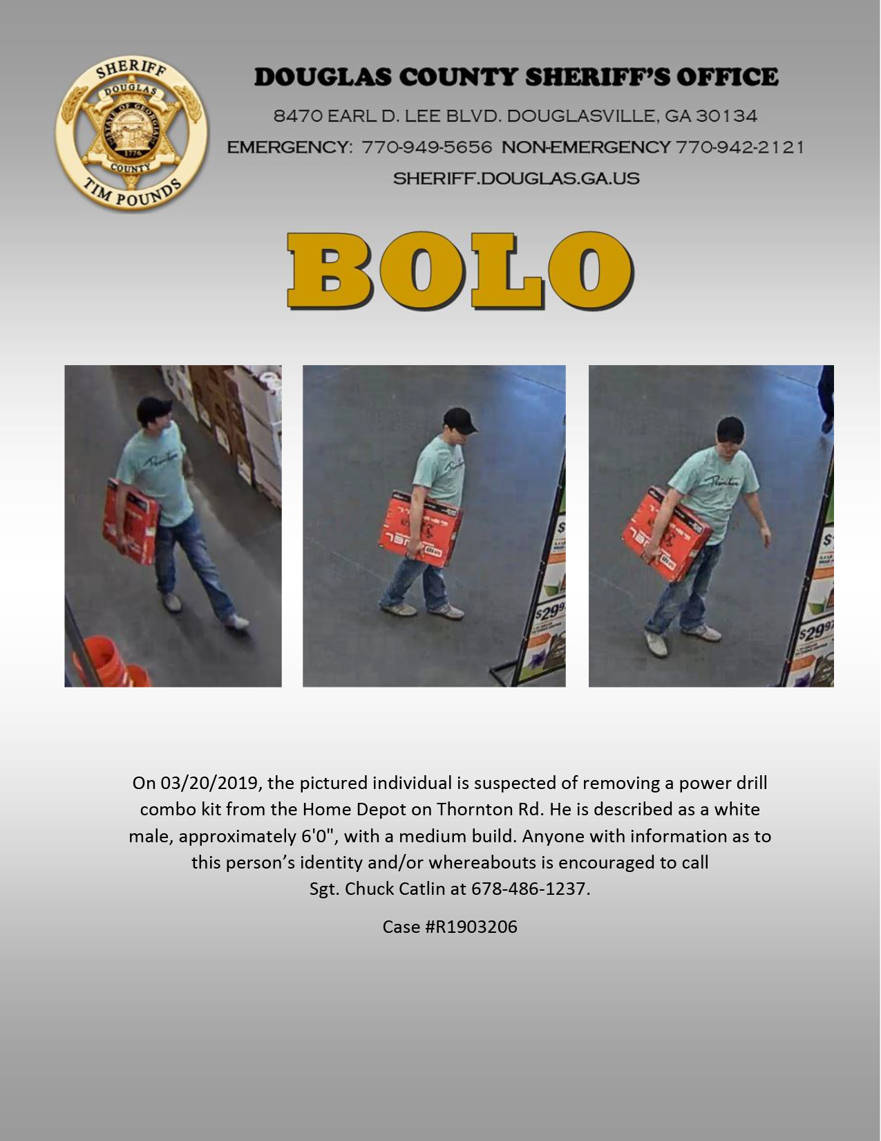 Man Wanted for Theft